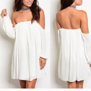 NWT Off the Shoulder Long Sleeve Dress